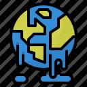 global, hot, melting, warming icon