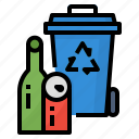 bin, can, plastic, recycle icon