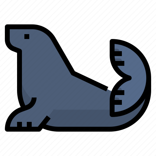 animal, antarctica, ice, seal icon