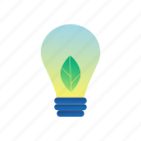 eco, ecology, energy, environment, lightbulb, plant, sustainability icon