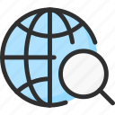 earth, find, globe, location, planet, search, world icon