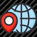 earth, globe, location, pin, planet, pointer, world