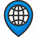 earth, globe, marker, pin, planet, pointer, world icon