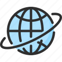 around, earth, globe, orbit, planet, world