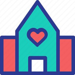 celebration, home, hotel, love, marriage, party, wedding icon