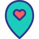 location, love, map, marriage, party, place, wedding icon