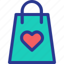 bag, celebration, love, marriage, party, shop, wedding icon