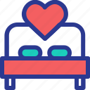 bed, celebration, love, marriage, party, sleep, wedding icon