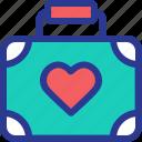 bag, briefcase, celebration, honey moon, marriage, party, wedding icon