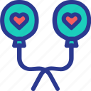 baloon, celebration, love, lovely, marriage, party, wedding icon