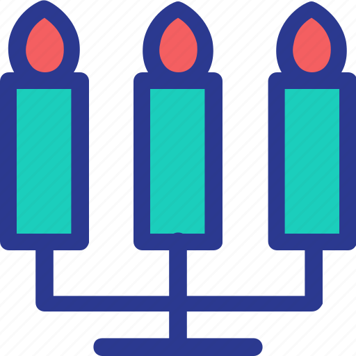candles, celebration, fire, light, marriage, party, wedding icon