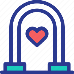 celebration, gate, love, marriage, party, wedding icon