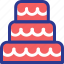birthday cake, cake, celebration, marriage, party, wedding icon