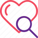 celebration, heart, love, marriage, party, search, wedding icon