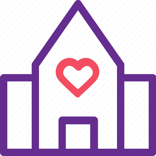 building, celebration, home, love, marriage, party, wedding icon