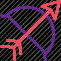 arrow, bow, celebration, love, marriage, party, wedding icon