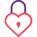 celebration, heart, lock, love, marriage, party, wedding icon