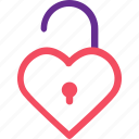 celebration, heart, love, marriage, party, unlock, wedding icon