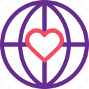 celebration, earth, love, marriage, party, web, wedding icon