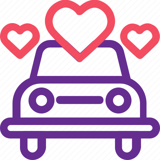 car, celebration, love, marriage, party, vechile, wedding icon