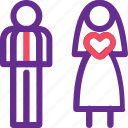 celebration, couple, marriage, party, straight, valentine, wedding icon