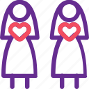 celebration, couple, lesbian, marriage, party, valentine, wedding icon