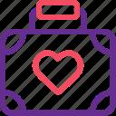bag, briefcase, celebration, honeymoon, marriage, party, wedding icon