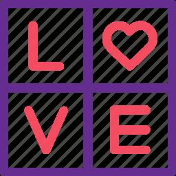 alphabet, celebration, love, marriage, party, sign, wedding icon