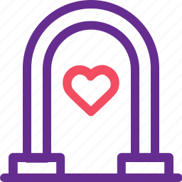 celebration, gate, home, love, marriage, party, wedding icon