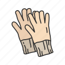 cotton gloves, driving gloves, fall gloves, full finger gloves, gloves, mittens icon