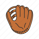 baseball glove, baseball mitt, garment, mitts, softball glove, sports, sports gear icon
