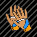 baseball gloves, garment, gloves, mitts, racketball gloves, sports glove icon