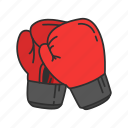 boxing glove, cushioned glove, gloves, mittens, sports gear, sports gloves icon