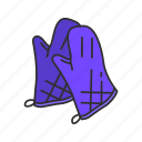 cooking mitt, cooking mittens, gloves, heat gloves, kitchen mitt, mittens icon