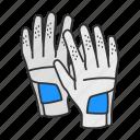 baseball glove, cricket gloves, gloves, mitts, racket ball, rubber gloves, sports gloves icon