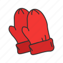 clothing, gloves, hand protection, mittens, mitts, snow gloves, winter gloves icon