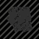 clothing, cotton gloves, fingerless glove, gloves, hobos glove, mittens, winter glove icon
