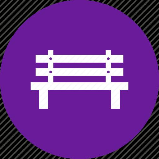 bench, furniture, park, street icon