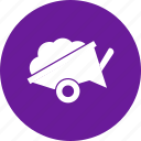 construction, wheelbarrow, working icon