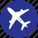 aeroplane, airplane, transport icon