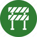 barrier, construction, stop, transport icon