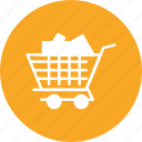 add, cargo, cart, online, shopping, to, trolley icon
