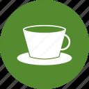 coffee, cup, green, tea