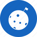 flag, moon, space icon