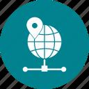 cloud, globe, server, world icon