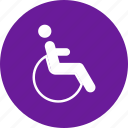 chair, handicap, health, medical, wheel icon