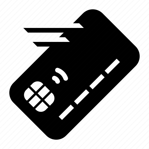 card, chip, credit, move, out, take, transfer icon