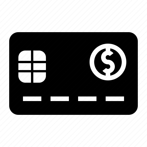 card, chip, credit, debit, front icon