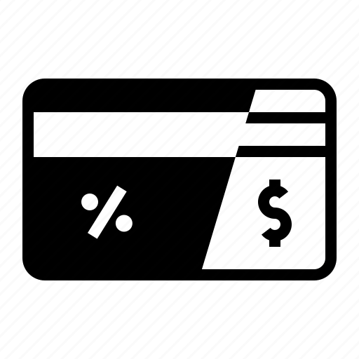 card, credit, magnetic, percent, remain, stripe icon