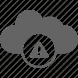 alert, cloud, communication, warning icon